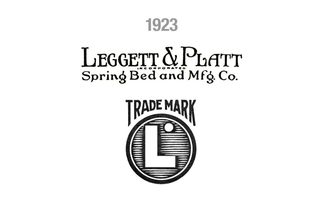 "The logo added both weight and depth, evolving from the simple bent line into the block ""L"". The fastening hole at the top of the tag remained in the trademarked logo."