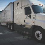 An L&P semi-truck parked on the 500 block of Main Street Joplin.