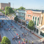 A rooftop view of downtown Joplin.