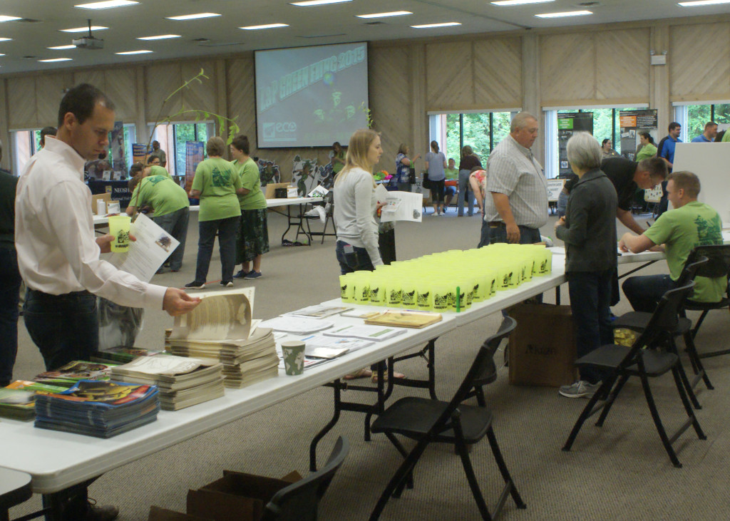 The Conference Center was decked out with informational booths and prizes.