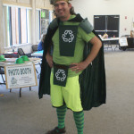 Josh Morgan of Creative Services is definitely going green.
