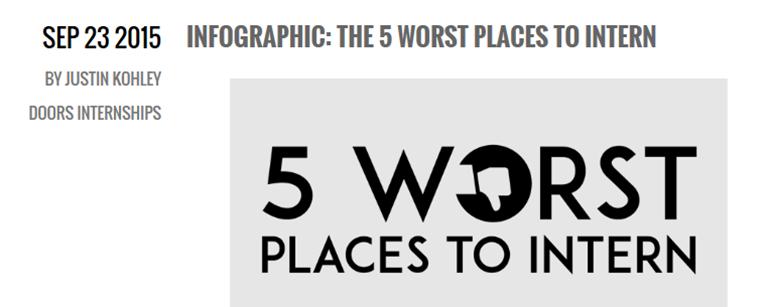 5 Worst Places to Intern