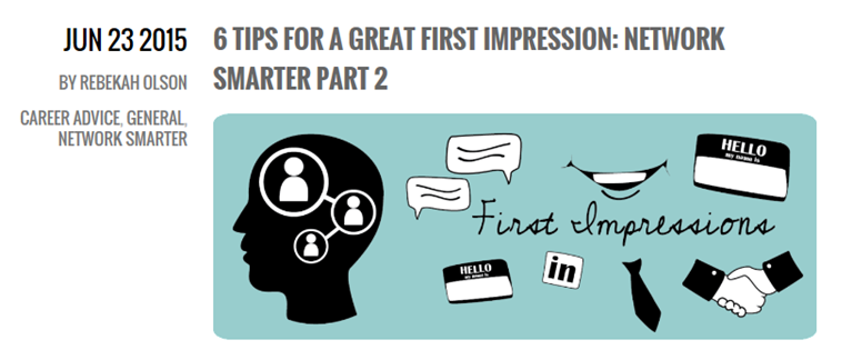 6 Tips For A Great First Impression - Network Smarter Part 2