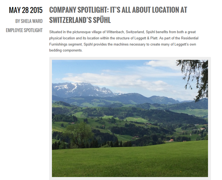 Company Spotlight - It's All About Location at Switzerland's Spuhl