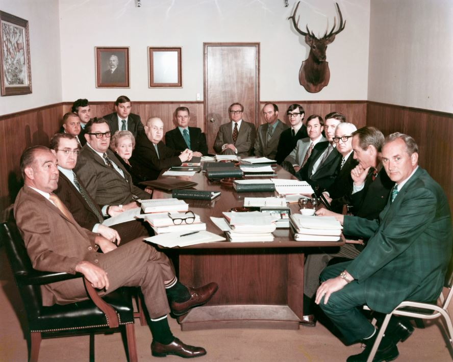 Leggett & Platt's board of directors and officers in 1971.