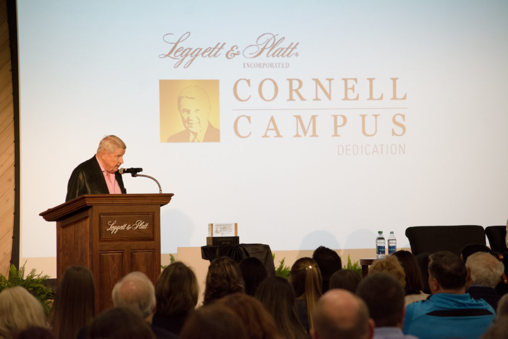 Harry M. Cornell, Jr. at the Cornell Campus dedication on May 16, 2016.