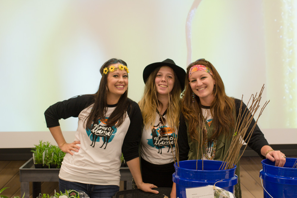 Kendra Hardesty, Angela Barnes, and Randi Preece from Environmental Affairs