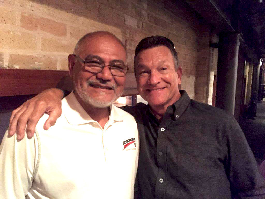 Branch Manager Jacinto Ramos (left) with Central Regional Sales Manager Michael Moore. This September will mark Jacinto's 48th year with L&P!
