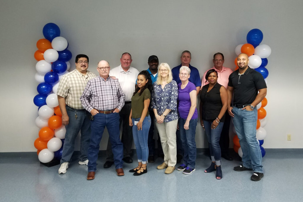 A group of employees from Ennis Spring in Ennis, Texas.