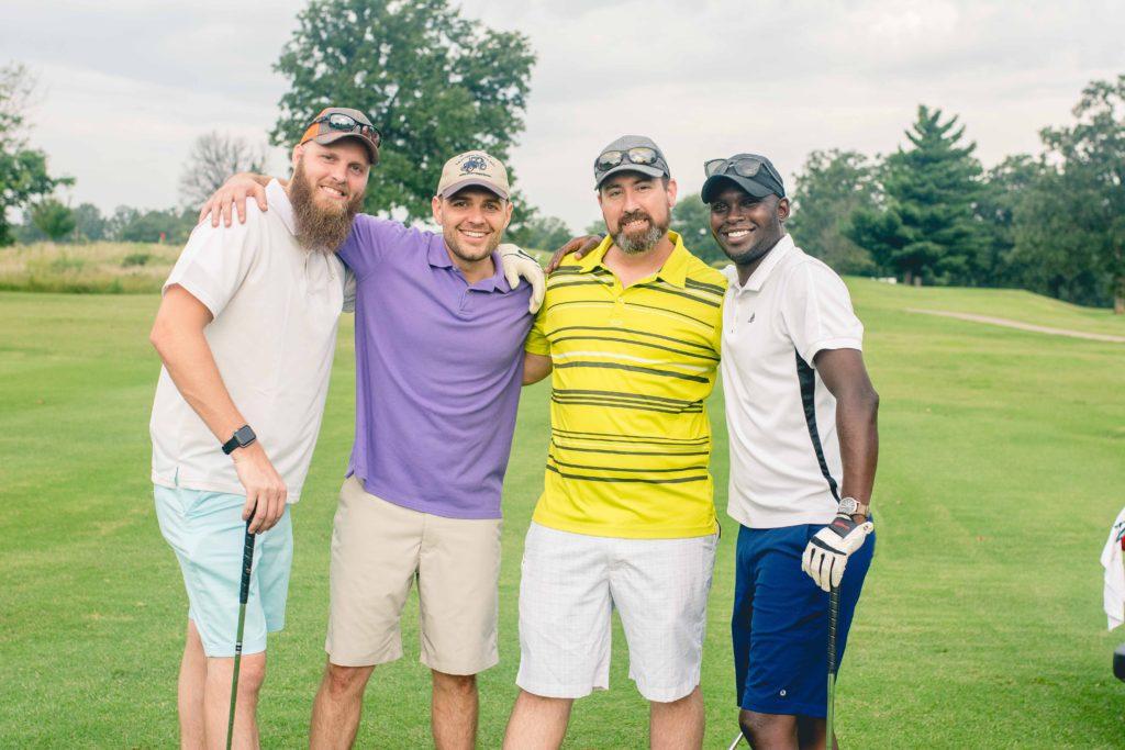 Chris Hoven, Joseph Beachner, Aaron Little, and Fredrick Njoroge